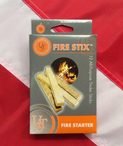 FIRESTIX 12 all purpose tinder sticks emergency tactical gear scuba equip UST