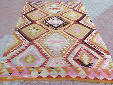 "Vintage Anatolian Turkish Antalya (Barak) Kilim 67,7""x99,2"" Area Rug Carpet Wool"
