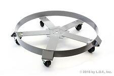 25 Drum Dolly 55 Gal 5 Wheel Swivel Casters Heavy Steel Frame Easy Roll 1250 Lbs