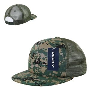 2fbd071404c Image is loading Woodland-Camo-Digital-Mesh-Flat-Bill-Military-Marines-