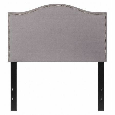 Headboard,Twin Size,Gray Fabric FLASH FURNITURE HG-HB1707-T-LG-GG
