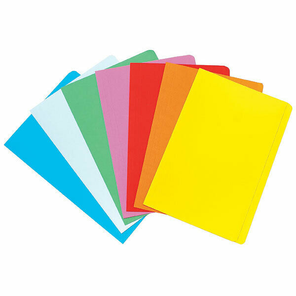 Marbig Foolscap Manilla Folders Assorted Colours 20 Pack 1108699