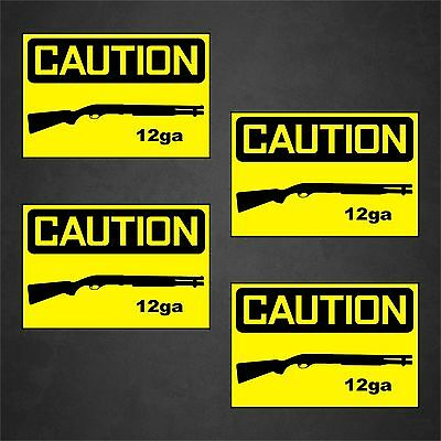 4 Warning Sticker Caution Decal Car Window Defense Danger Caution Guns .50BMG