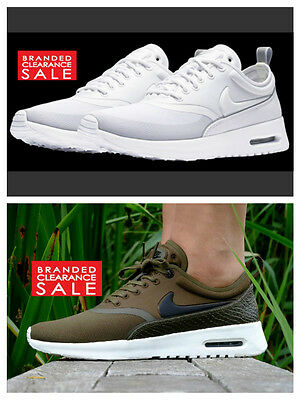 BNIB New Women Nike Air Max Thea Ultra Premium White Green Loden 3 4 5 6 7 UK | eBay