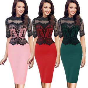 Women-Lady-Floral-Lace-Sleeveless-Slim-Bodycon-Cocktail-Party-Evening-Midi-Dress