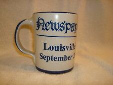 Louisville Stoneware Mug Made in Kentucky Newspaper Abstracts Daily Grind 2000