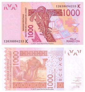Gli-Stati-dell-039-Africa-occidentale-SENEGAL-1000-FRANCHI-2012-P-715Kj-BANCONOTE-UNC