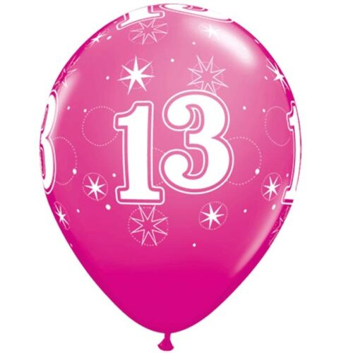 Qualatex 13th Anniversaire Latex Ballons 11 in environ 27.94 cm Wild Berry Rose 28 cm
