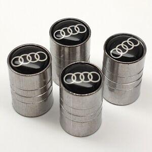 Conjunto-de-cuatro-anillos-de-AUDI-4-con-el-logotipo-de-Aleacion-Neumatico-Tapas-De-La-Valvula-X4