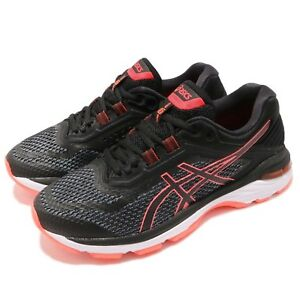 Asics-GT-2000-6-D-Wide-Black-Flash-Coral-Women-Running-Shoes-Sneakers-T856-N001