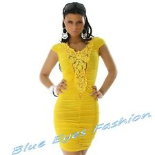 Sexy Minikleid Party Dress GELB HINGUCKER Clubwear Gr.36