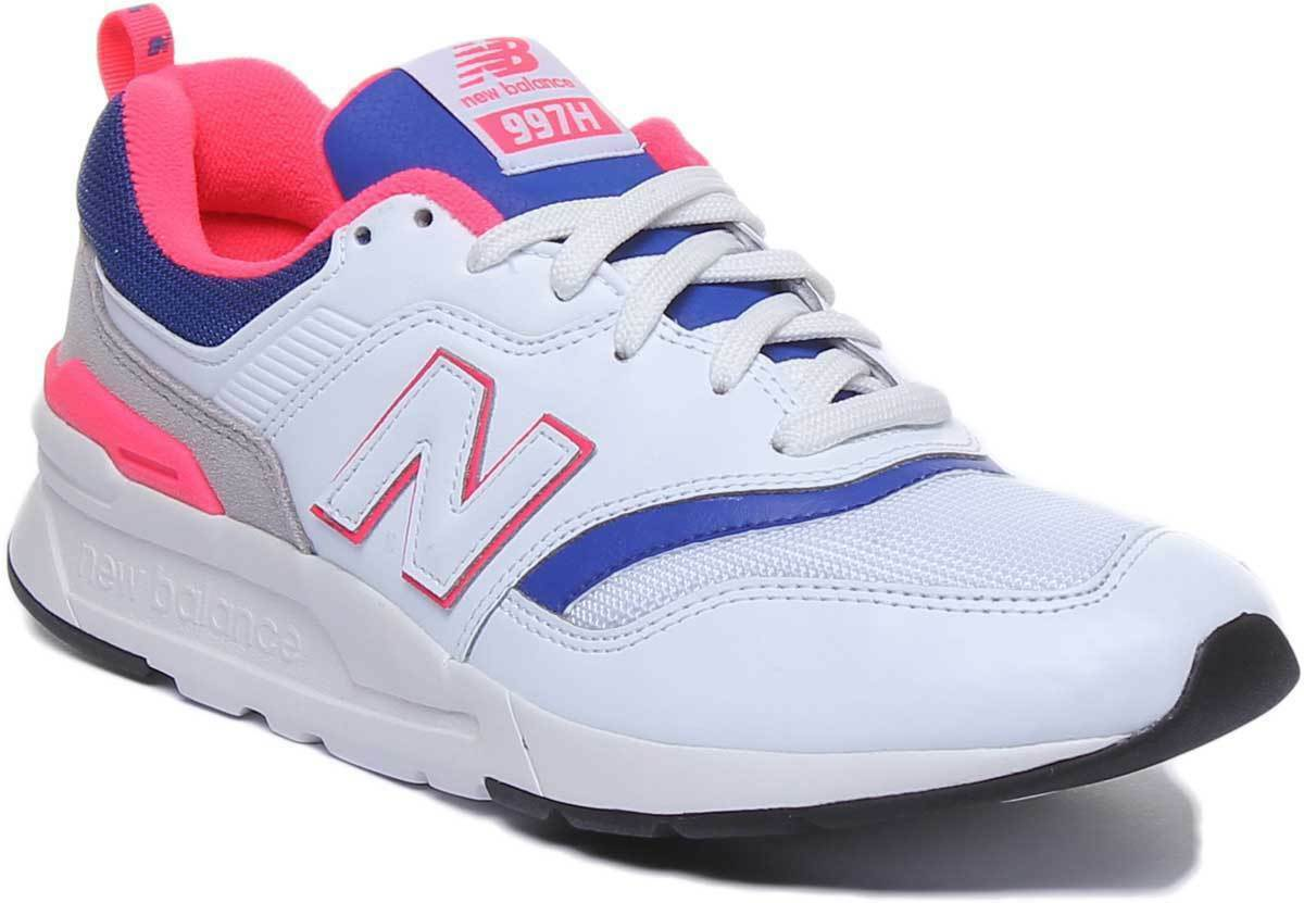 New Balance 997 Mens Casual Suede Mesh Trainers In Weiß Navy Größe UK 6 - 12