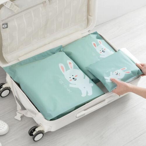 3 Pcs Travel Portable Miscellaneous Storage Bags Cartoon Pattern Practical