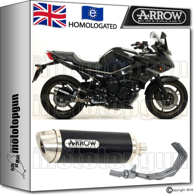 ARROW FULL EXHAUST SYSTEM THUNDER DARK HOM YAMAHA XJ6 DIVERSION 2011 11 2012 12