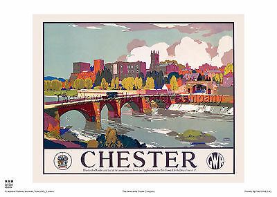 Chester Vintage Travel advertising Poster reproduction.