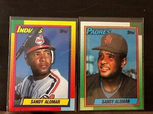 (2) 1990 TOPPS SANDY ALOMAR JR. #2T CLEVELAND INDIANS/ San Diego Padres #353