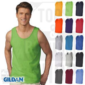 b9b943ecbf83d Details about Gildan Mens Ultra Cotton Tank Top Workout Fitness Shirt Gym  S-3XL - 2200