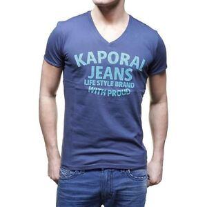 T-shirt-Kaporal-Homme-manches-courtes-KELOU-Bleu-S-M-L-XL-XXL