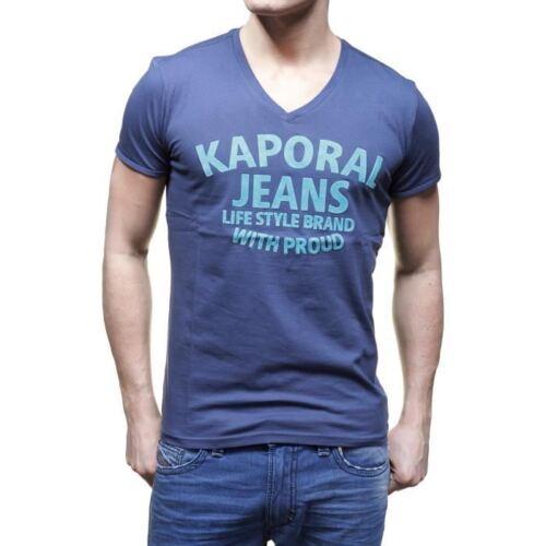 T shirt Kaporal Homme manches courtes KELOU Bleu S M L XL XXL