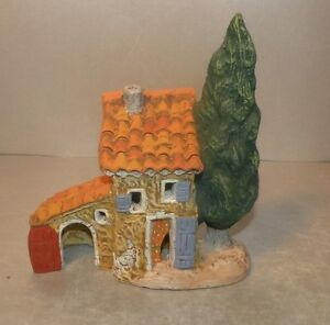 NEW House and cypress, for Santons 2 cm , Fouque