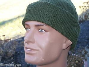 Hat-Army-Military-OD-Green-USMC-Watch-Knit-Cap-Made-in-USA-NEW-M1-w-P38-Opener