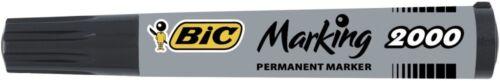 Bic 2000 Permanent Black Bullet Tip Marker Pack of 12 820915