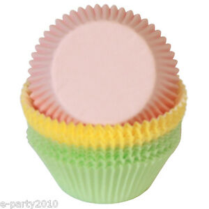 WILTON-PASTEL-MINI-BAKING-CUPS-100-Birthday-Party-Supplies-Cupcake-Muffins