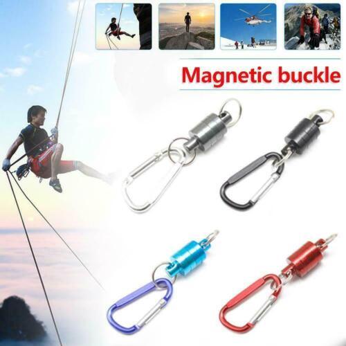Magnetic Carabiner D-Ring Key Chain Clip Snap Hook Key-Ch Karabiner Camping Z0K4