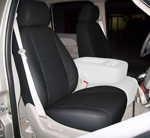 chevy silverado 2007 2013 black iggee s leather custom front seat cover ebay. Black Bedroom Furniture Sets. Home Design Ideas