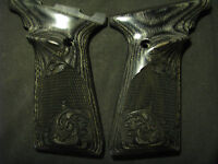 Browning Buckmark Checkered/engraved Scroll Blackwood Ufx-only Grips Beautiful