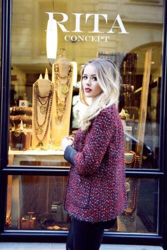Fantaisie Bloggers Veste Manteau Zara Kayture Rouge Petit Blazer Cuir Combinaison qwwxtBST
