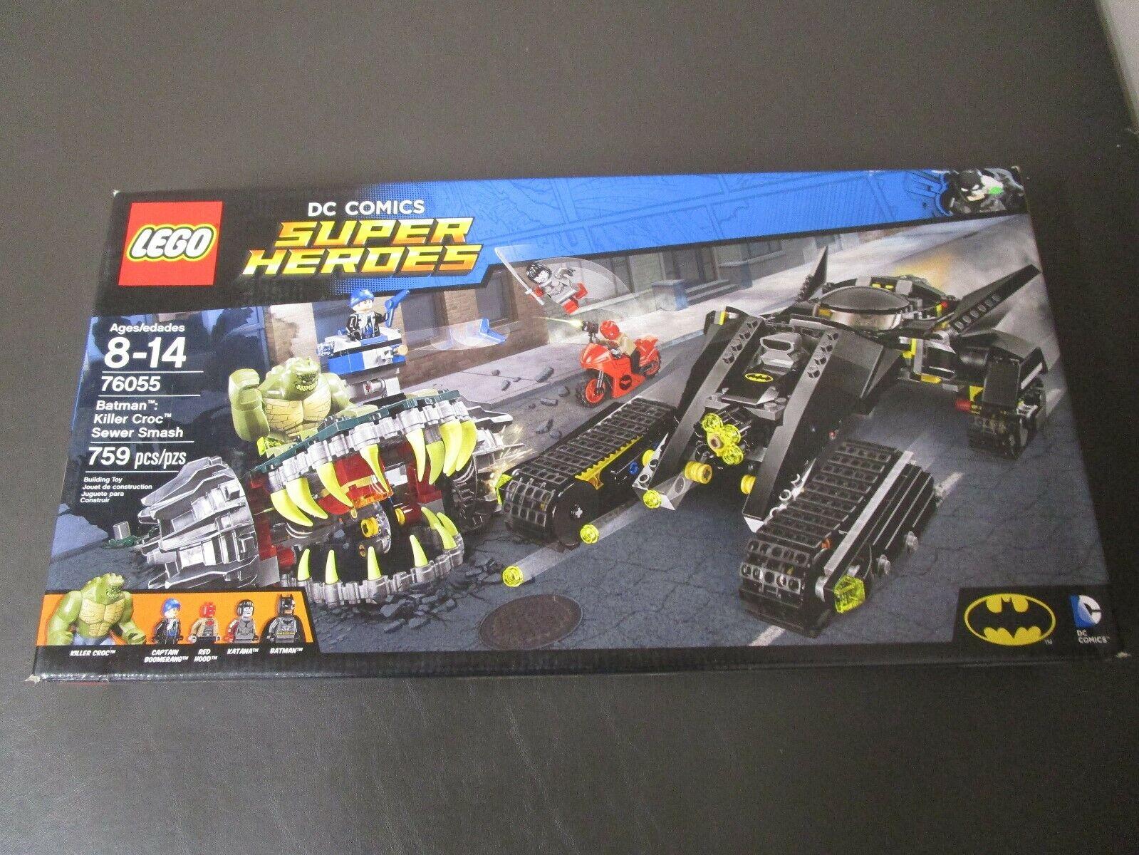 Batman Killer Croc alcantarillado Smash 76055 Lego súper Heroes 759 Piezas Nuevo Sellado