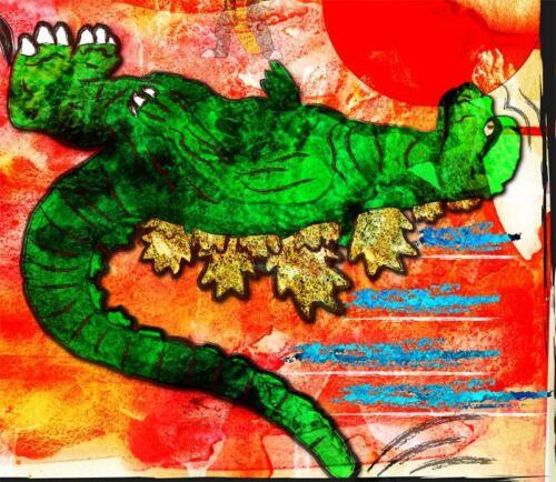 Godzilla vs Megalon jumpkick scene11 x 17 High Quality Poster jet jaguar