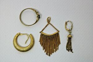 Altgold-Ring-Ohrring-Anhaenger-333-6-8-Gramm