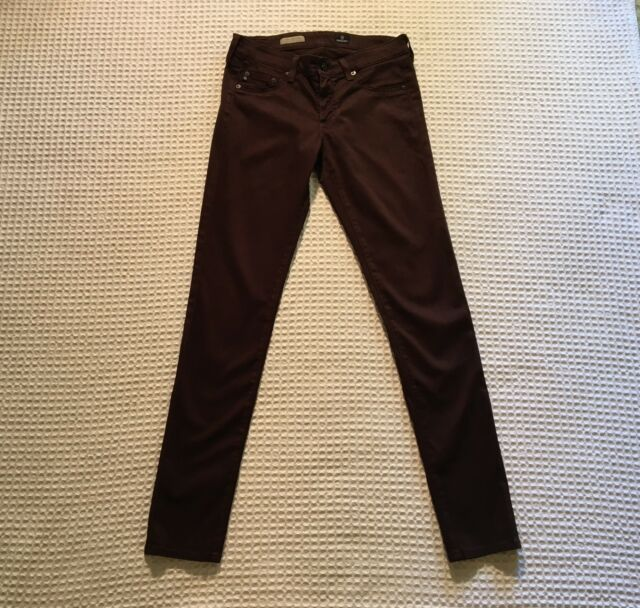 ef93f5af0b204 AG Adriano Goldschmied The Jegging Super Skinny Fit Jeans $215 Brown Sateen  29