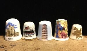 Lot of 5 BIRCHCROFT GEISHA Gold Rose QUEEN MARY SHIP Pisa tower GENT CASTLE
