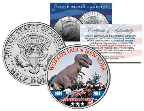 REX Coin JFK Half Dollar 1964 New York WORLD/'S FAIR 50th Anniv TYRANNOSAURUS T