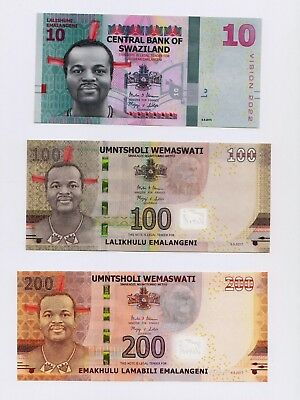 NEW 2017 Swaziland 10-lilangeni Banknote Issue in UNC condition
