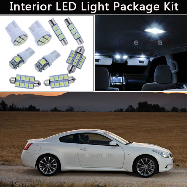 7pcs Bulbs White Led Interior Lights Package Kit Fit 2008 2012