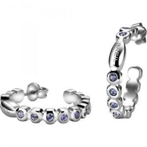Orecchini-Donna-BREIL-ROLLING-DIAMONDS-TJ1572-Cerchio-Acciaio-Swarovski-Viola