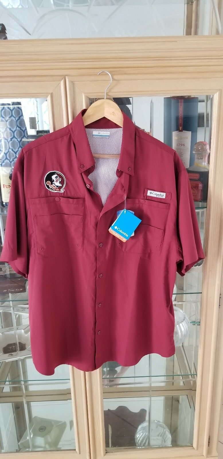Columbia FSU PFG Short Sleeve button Shirt