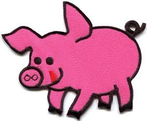 Pig sow hog swine boar livestock farm animal applique iron on patch