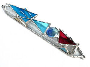 Image is loading Tiffany-Glass-Mezuzah-Case-Handmade-in-Israel-Kosher-