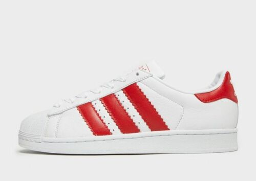 Superstar Red White uk10 Adidas Leather Originals Toe Stripes Jumbo Shell Bnib qYPPw5Zx7