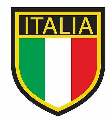 ITALIA Country Code Oval Bumper Sticker or Helmet Sticker D929 Italy