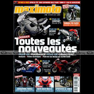 Agressif Maximoto N°26 Yamaha Xt 600 Fz6 Fazer Harley Xl 1200 R Aprilia 1000 Tuono & Etv Texture Nette