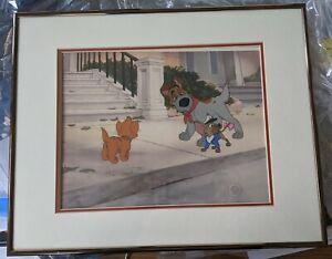 Oliver-and-Company-Production-Cel-Disney-1988-Oliver-Dodger-Tito-Framed
