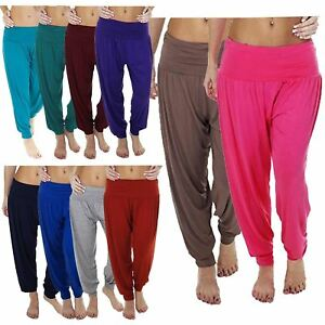 Reasonable New Womens Plus Size Plain Ali Baba Hareem Pants Trousers 8-26 Be Shrewd In Money Matters Clothes, Shoes & Accessories