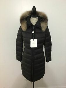 Women-039-s-MONCLER-Fabrefox-Down-Coat-Size-0-X-Small-Black