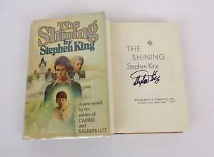 Stephen-King-Signed-Autograph-The-Shining-1st-Edition-1st-Print-R49-HC-Book